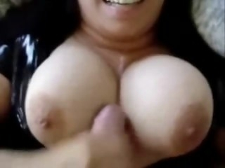 Latex latina with breathtaking knockers big tits amateur
