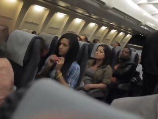 Risky Voyeur Cam Flashing take the Airplane exhibitionism hidden cam