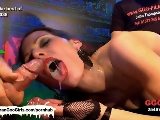 The hardcore bukkake adventures be advisable for gloominess beauty Viktoria compilation bukkake