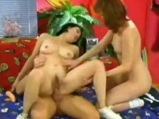 Retro teen threesome teen orgy