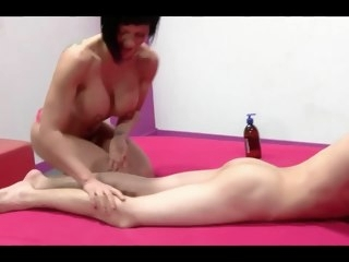 Spanish Milf Short Hair And Unmitigatedly Young Boy top rated blowjob