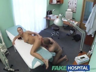 FakeHospital Hot brunette carefulness gives patient some sexual healing pornstar fetish