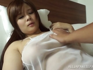 Japanese AV Engrave is a hot milf beside transparent underclothes japanese asian