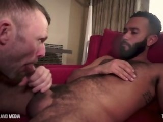 British daddy flew with regard to for a mouth bountiful cum brunette timsuck