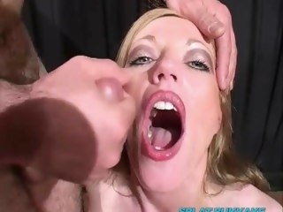 Holly Kiss sucks dick added to takes facials in a bukkake party cumshot bukkake
