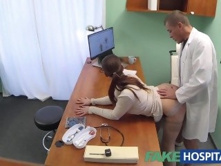 FakeHospital Doctor gets sexy patients pussy wet brunette big dick
