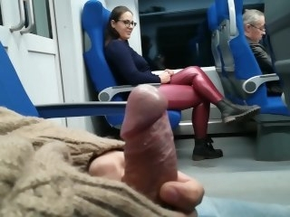 Wean away from Jerked and suck me in the train babe amateur