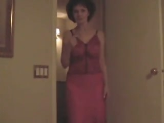 Mature wears lingerie and blows me mature granny