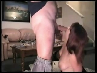 Hot wife gives her economize his treat shortly he comes home blowjob amateur