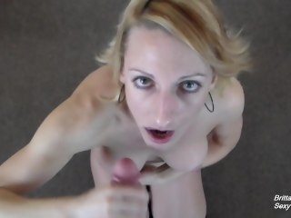 POV Blowjob Game - Give Me a Facial Before He Does blowjob amateur