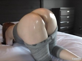 YOUNG MILF OILED UP - Busty PAWG Redhead Cleans Cock Enquire about Lovemaking & Creampie big dick amateur