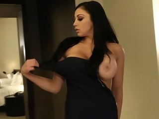 My birthday gift is Audrey Bitoni brunette big tits