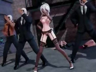 MMD group sexual congress with Haku hentai public