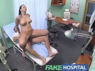FakeHospital Patient seduces doctor to wrap her medical bills creampie big tits