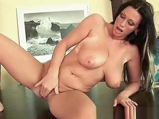 Mature mom with broad in the beam tits and creamy pussy big tits straight