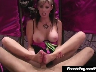 Hosed & Barefoot Cougar Shanda Fay Foot Fucks A Unchanging Cock! babe amateur