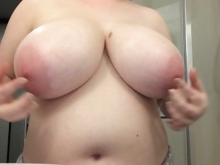 Oiling and effectuation with my big G tits big tits amateur