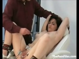 Doctors punishment of pussy painful patient in medical good-luck piece and kinky brunette thepainfiles