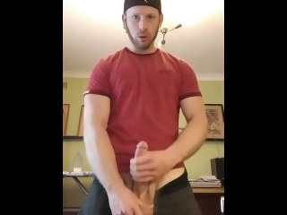 Hot Guy Jerks Off In His Hotel Room And Cums A Lot gay solo male