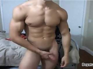 flexing erection fetish muscle