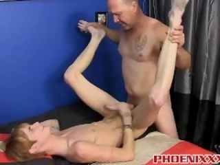 Cute twink Preston Andrews gets banged by a sexy biker blonde phoenixxx