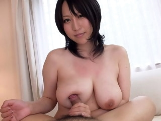 Big breasted Japanese babe Yuna Hoshizaki rides weasel words in POV blowjob asian
