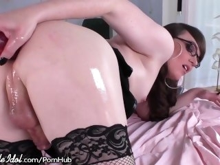 ShemaleIdol TGirl Beauty Self Fucks for You toys masturbation
