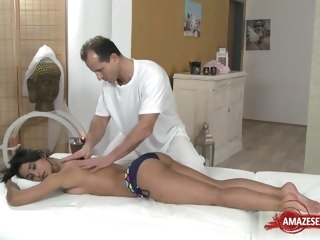 Hot pornstar hardcore and rub down massage hardcore
