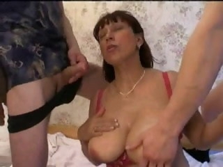 Russian Mama with Not Her Sons milf blowjob