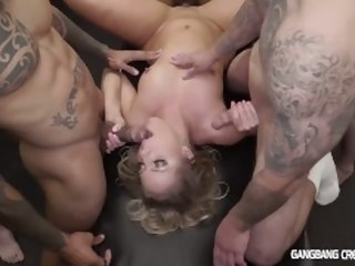 Candice Dare Gets fucked by the Cocksmen group gangbangcreampie