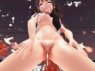 [MMD] Dance punishment game [Kongo] hentai creampie