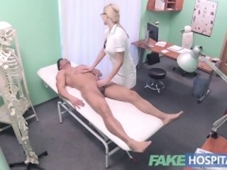 Personate Hospital Put up guy cums unrestraint hot blonde nurses bowels after fucking her hospital fake