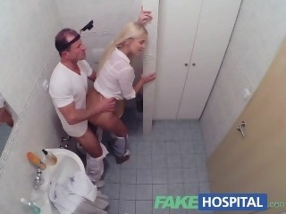 FakeHospital Sizzling busty bazaar receives a creampie outlander the doctor creampie big tits