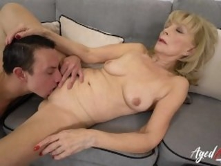 AgedLovE Blonde Mature Fucked Hard By Youngster blonde agedlove