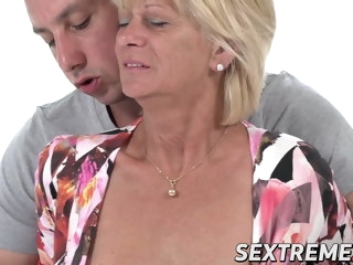 Old newborn Diane Shepard overjoyed by vigorous dicking facial mature