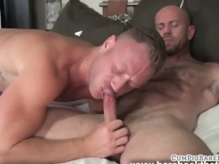 Buff wolves assfucking and shooting jizz blowjob bareback