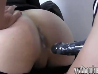 Femdom Strapon Jane fucks crossdressers tight virgin aggravation until she cums  transgender