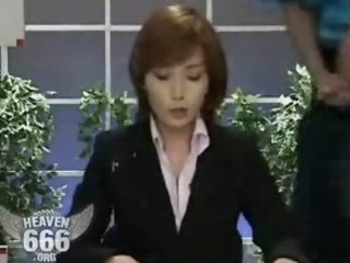 Bukkake on the news lady bukkake asian
