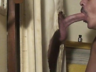 Hot Straight guy with Fleshly Bushwa at Gloryhole blowjob fetish