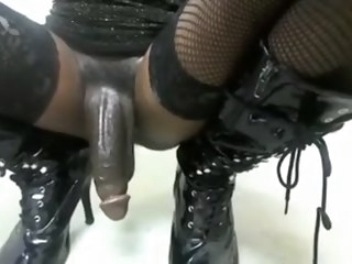 Big Black Shemale cumming gay black