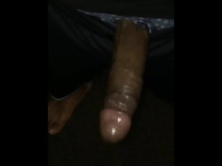 Fuck the shit out my toy (massive cumshot) from Instagram celebrity shhhhhh solo male black
