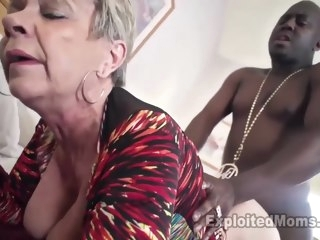 Breasty Granny all over Creampie Clip grannies blonde