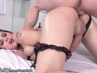 ShemaleIdol Astonishing TS Takes Big Cock Bareback cumshot big tits