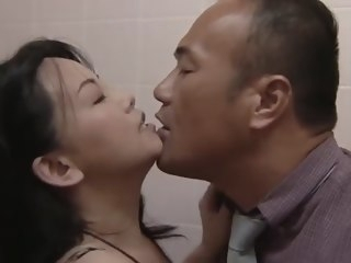 Fabulous JAV out of bounds intercourse video with incredible japanese whores hairy cunnilingus