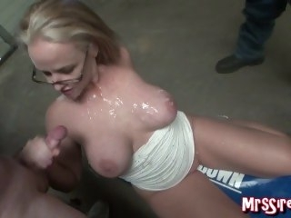 Wife Bukkake blonde big tits