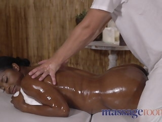 Massage Rooms British temptress slams her obese black booty massage british