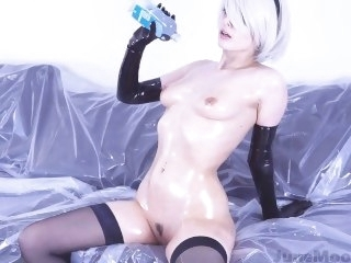 Nier Automata - 2B Solo Masturbate - Distraction Hentai Porno Cosplay fetish big ass
