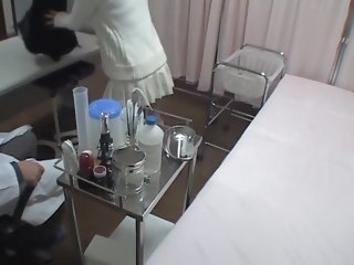 Medical voyeur porn with doctor fucking his young patient amateur spy cam