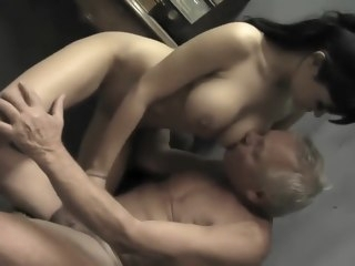 Young Pure Girl is Fucked by Two Old Perverts hardcore straight