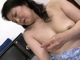 Elderly increased by horny Japanese mature whore finger fucked mature asian